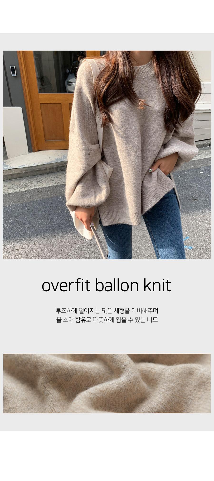 Cash Balloon Overfit Knit