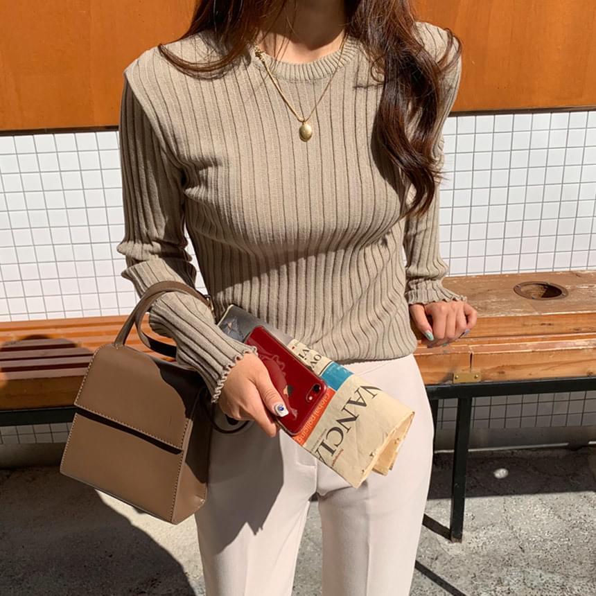 Nut Basic Corrugated Round Knit 針織衫