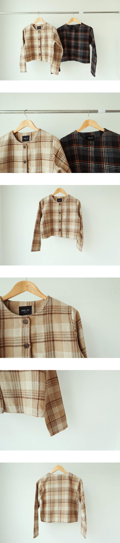 Momo check blouse