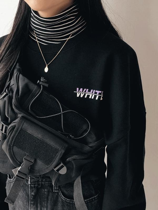 韓國空運 - White box-fit man-to-man t-shirt 長袖上衣