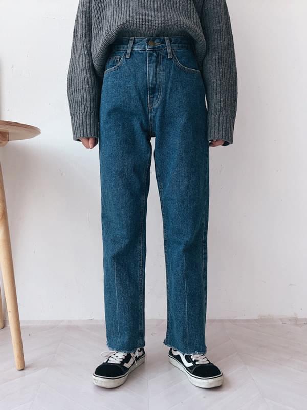 390 high straight denim pants