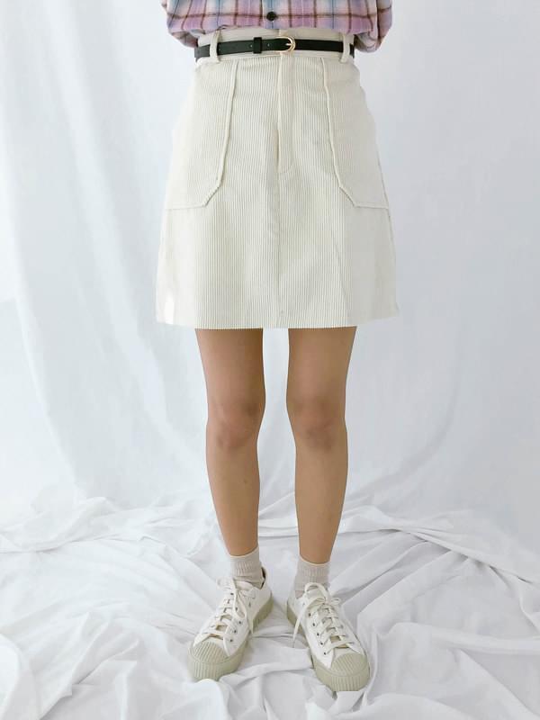 Pocket golden skirt