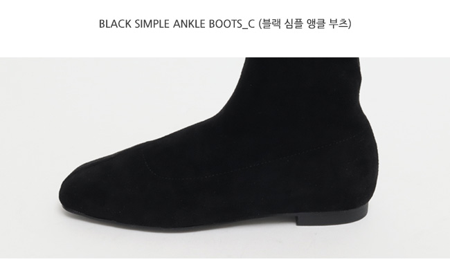 Black simple ankle boots_C