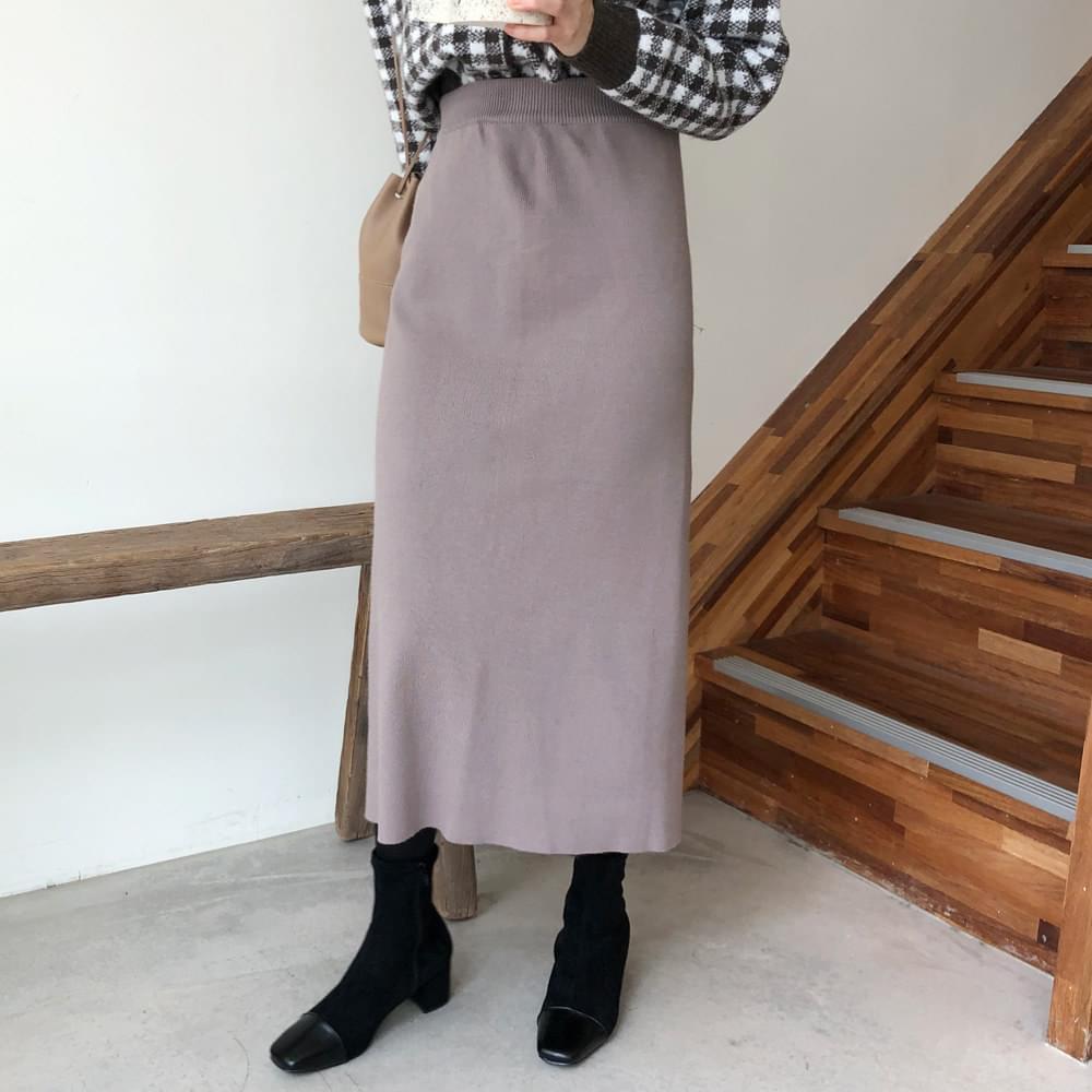 Classic Knit Long Skirt