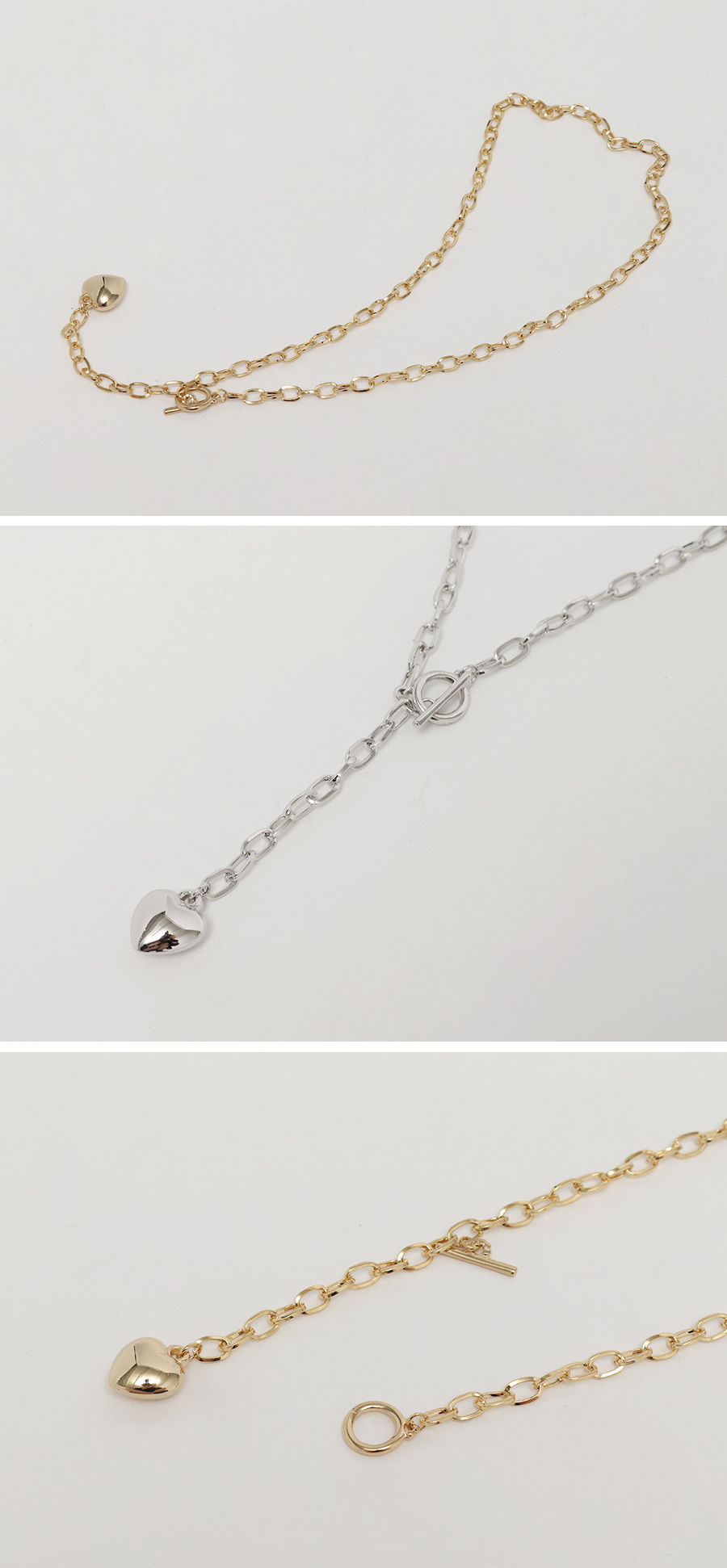 Heart chain necklace_C