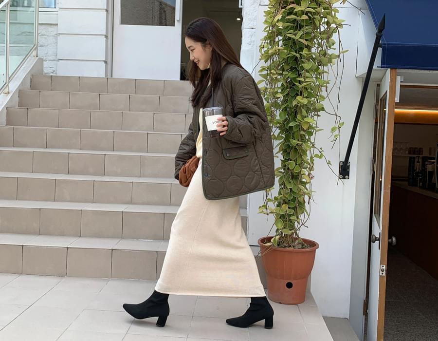 Duns wool long skirt_C (size : free)