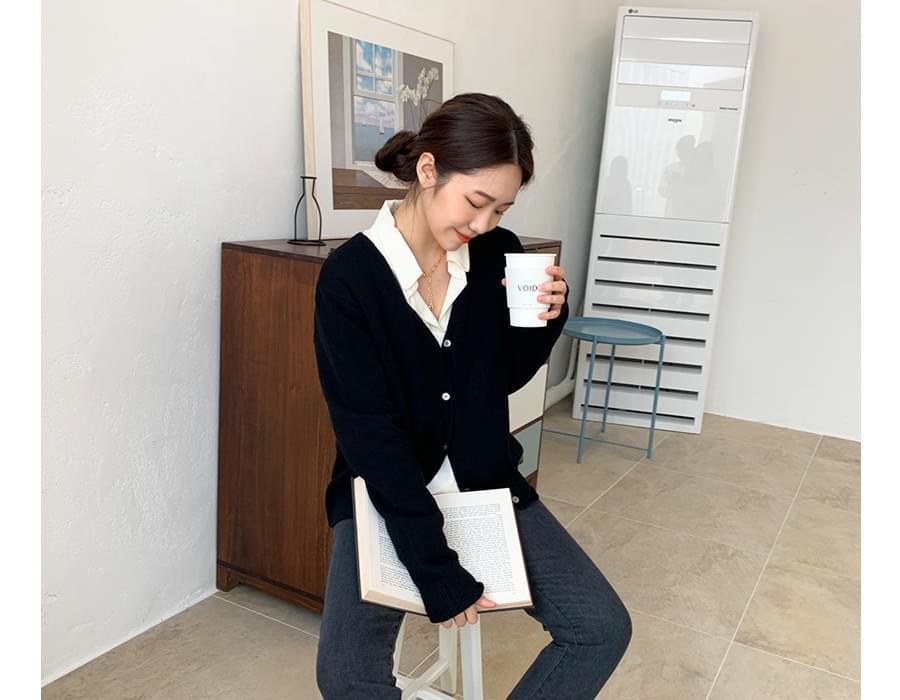 Katie warm wool cardigan_C  (size : free)