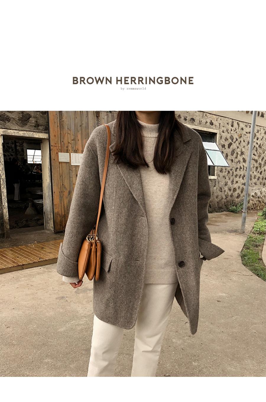 Herringbone Half Handmade Coat