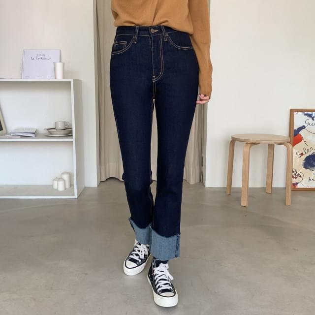 Roll-up Slim Span Dough Jeans
