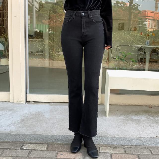 Napping slim span bootcut black jeans-pt