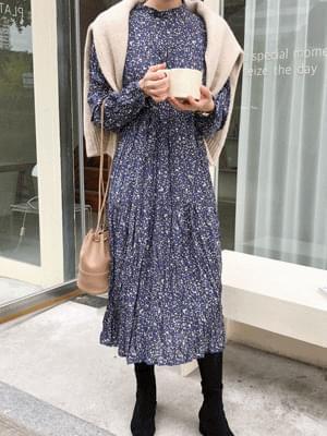 韓國空運 - Stone wrinkle long dress 長洋裝