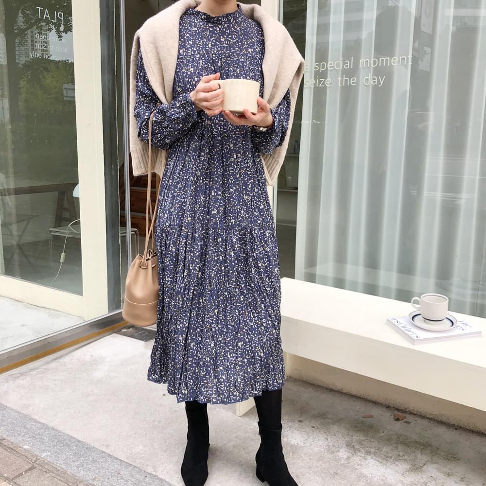 Stone wrinkle long dress
