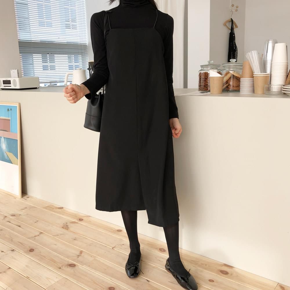 Black Layered Long Dress