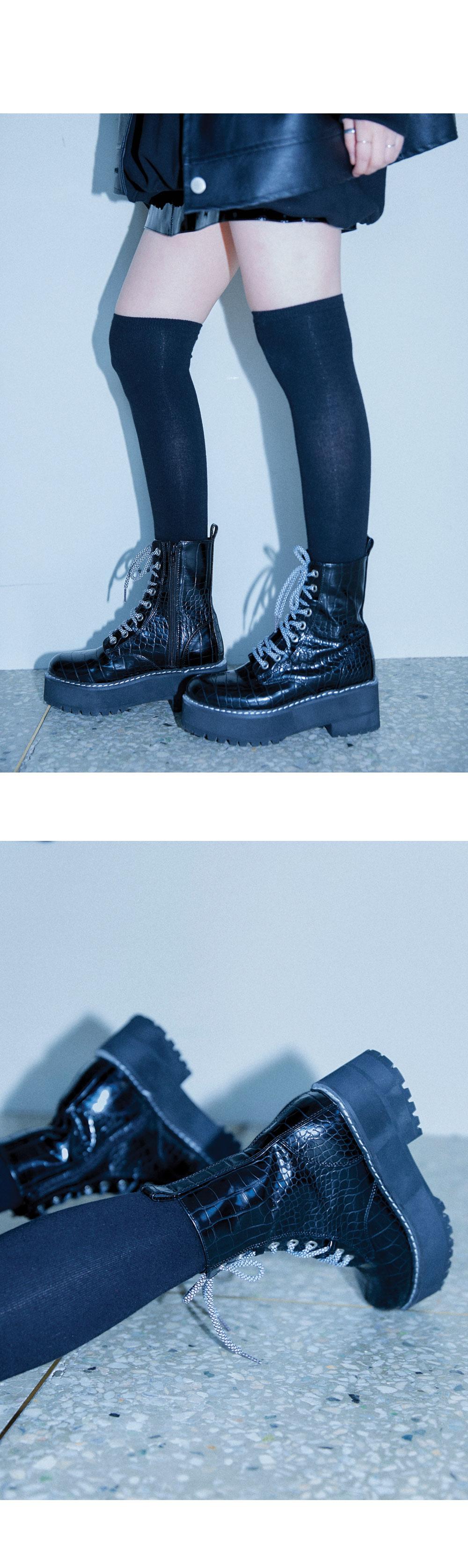 leather stitch pattern walker boots