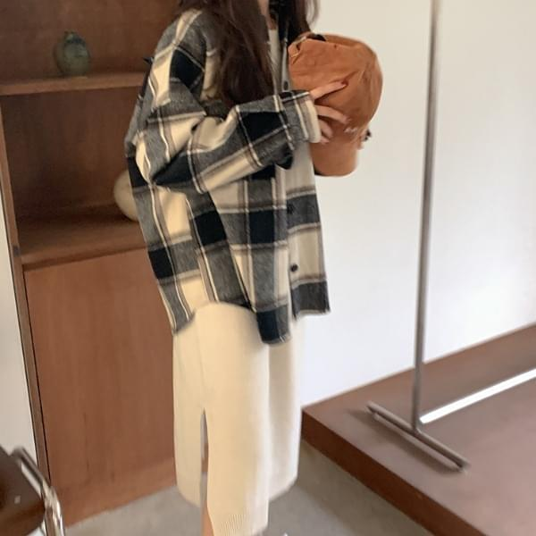 Doubles wool check shirt