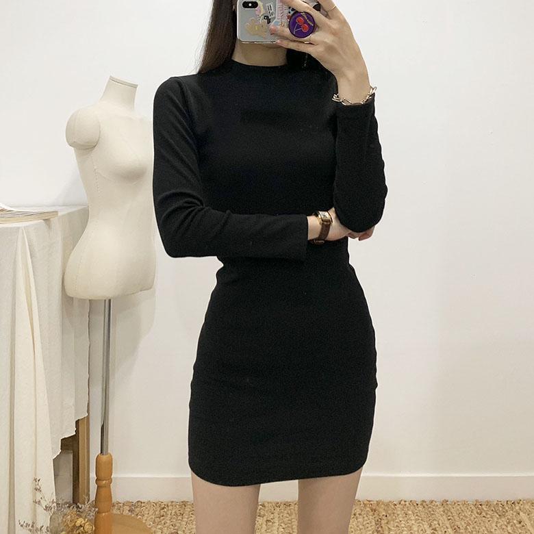 Eris Slim Long Sleeve Mini Dress