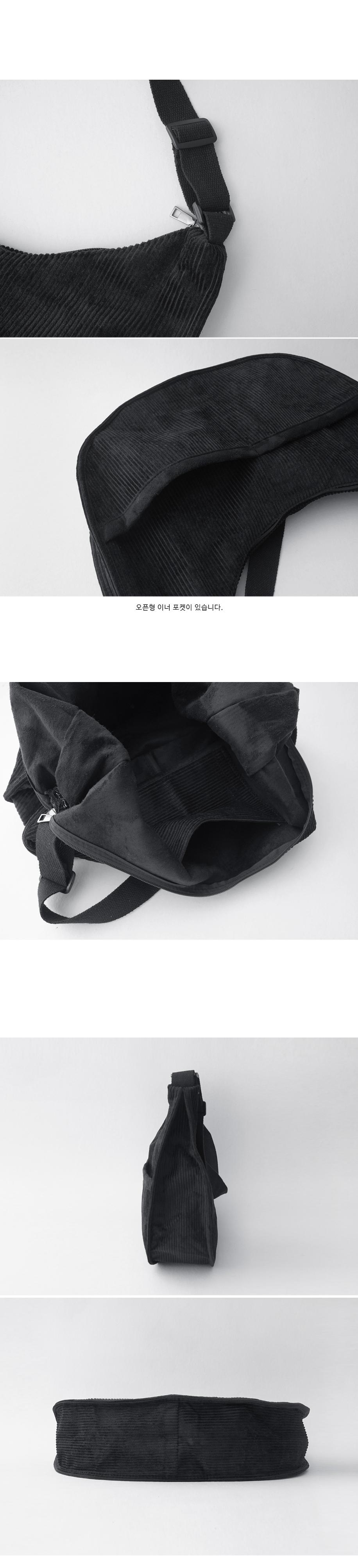 corduroy half moon bag