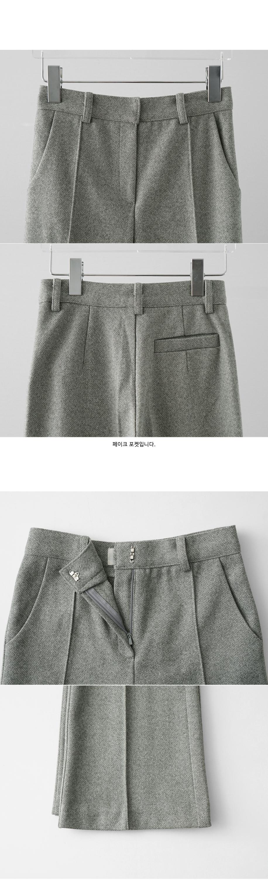 mix color semi-boots cut pants