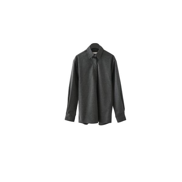 hidden button simple shirt