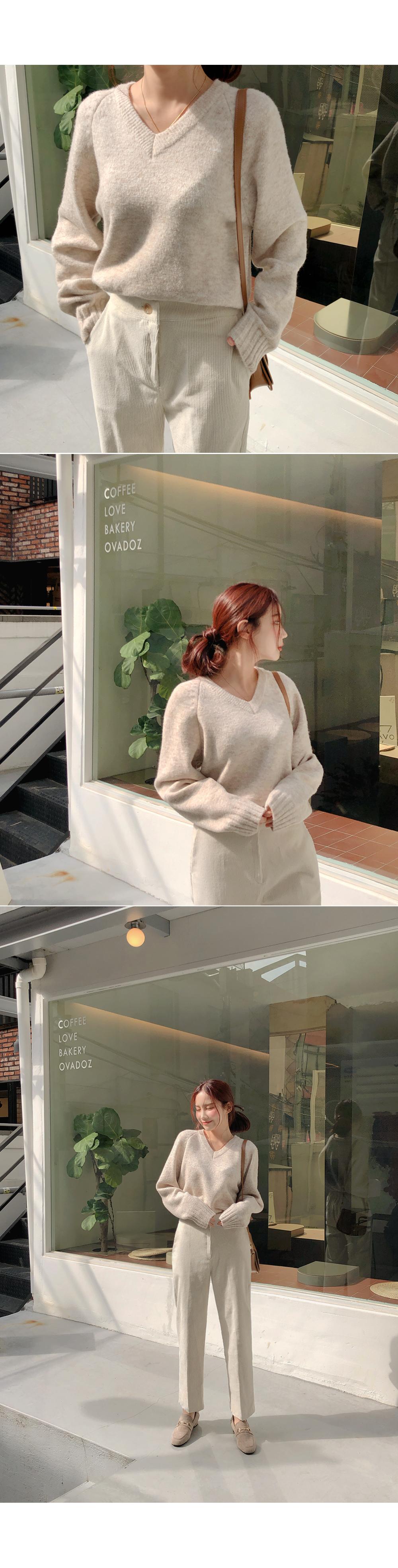 Boldol V-neck knit