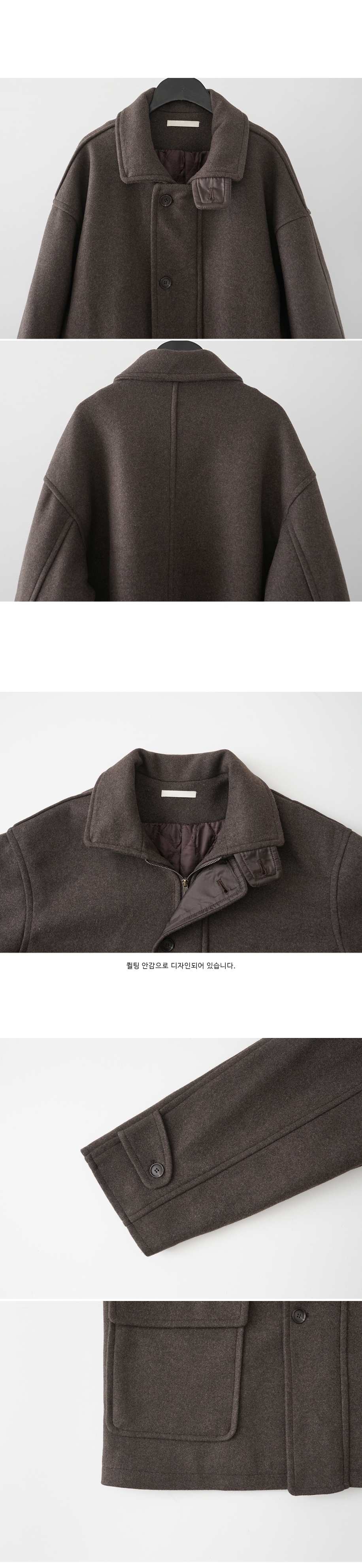 casual inner quilting half jacket