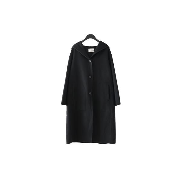 plain hooded handmade coat