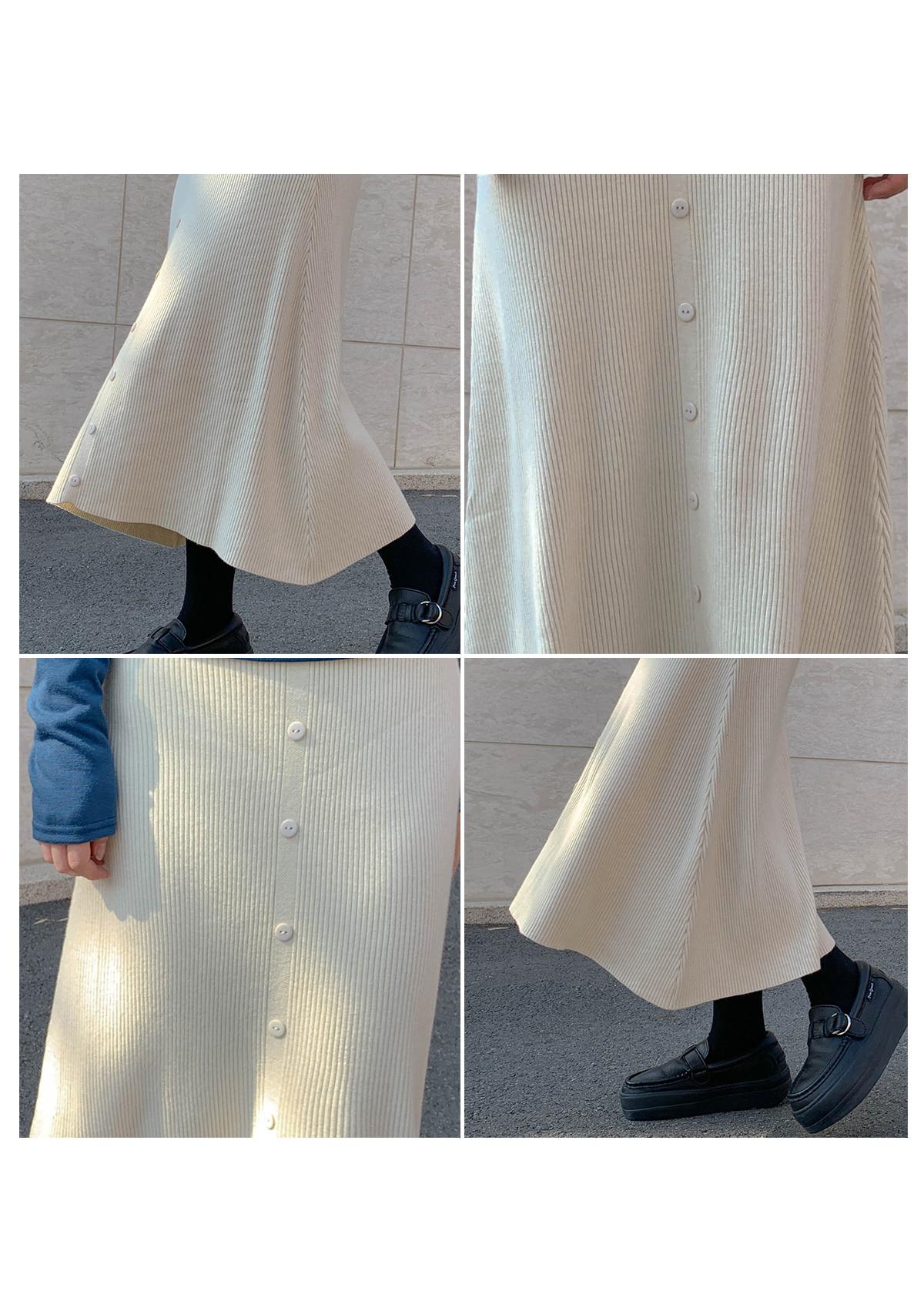 Burton Hako knit long skirt