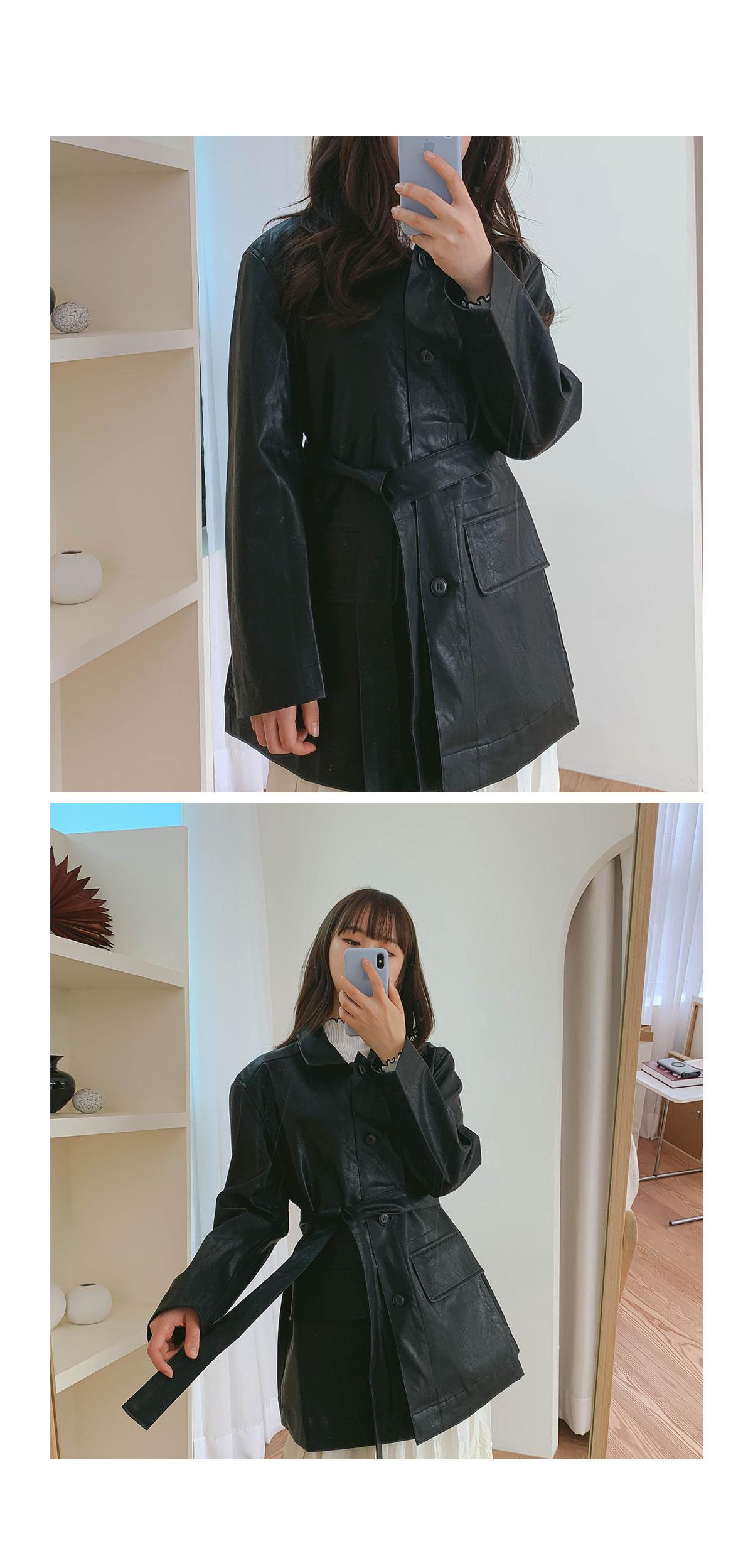 Fake Brunch Leather Jacket