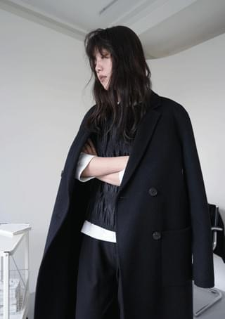 handmade double-breast coat (2colors)