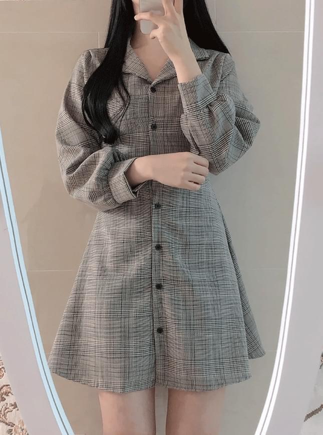 Delo Check Collar Dress