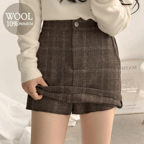 Grande check skirt