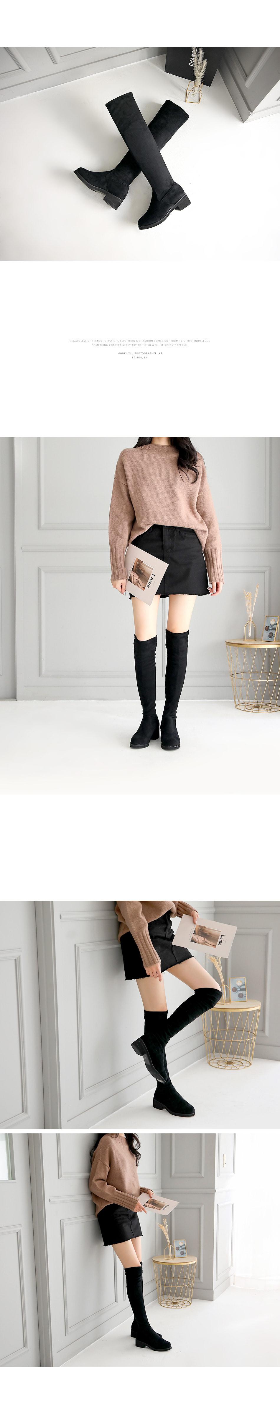 Dkeran Sox Knee High Boots 4cm