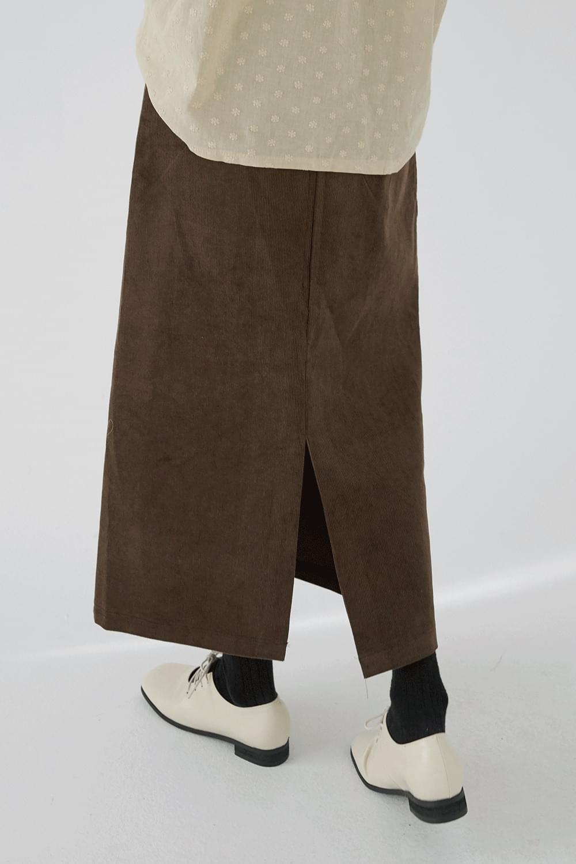 corduroy belt long skirts