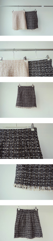 Surgical tweed skirt