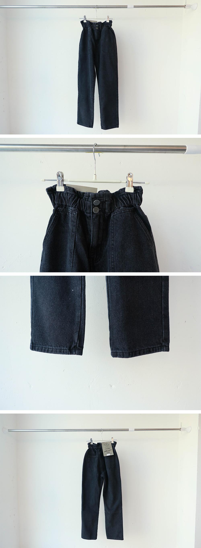 2307 high two-button banding pants