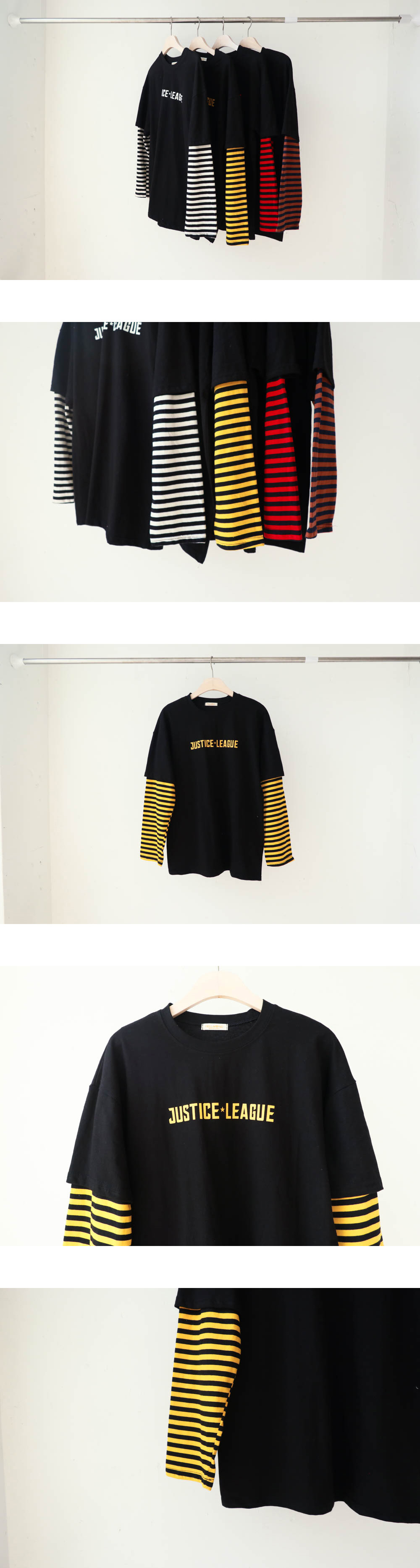 Justice Sleeve Striped T-Shirt