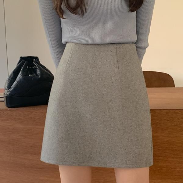 Mammal wool miniskirt