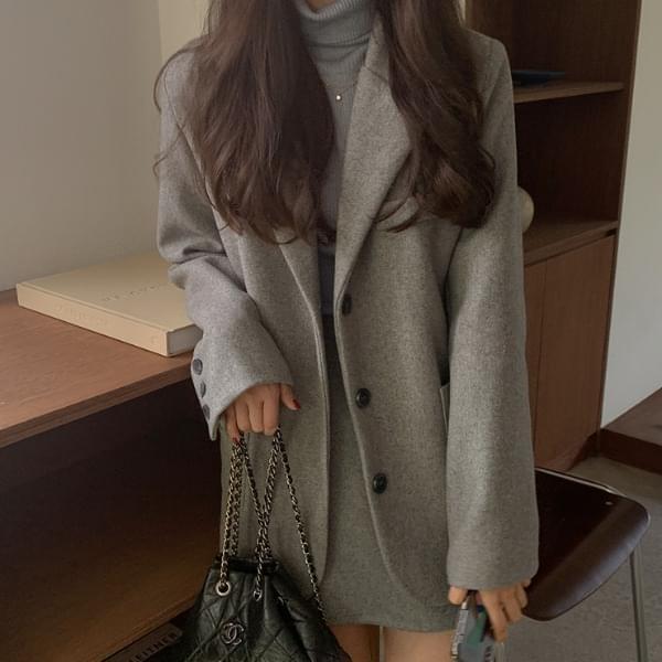 Mammal wool single jacket