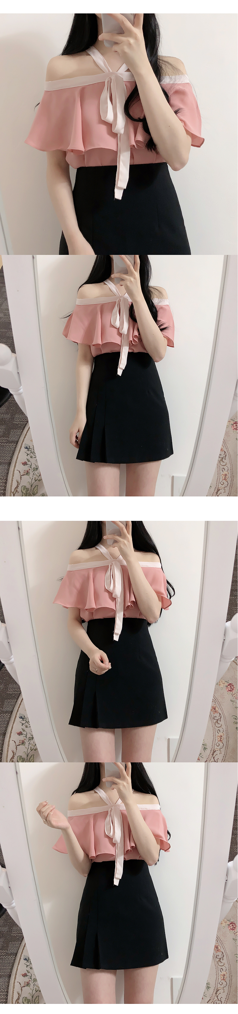 Self-made, order-by-order ♥ Coloring Thumb-off shoulder bl