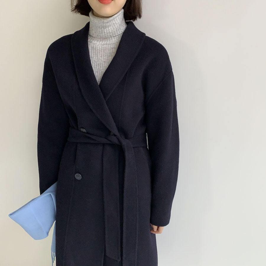 Line double hand coat