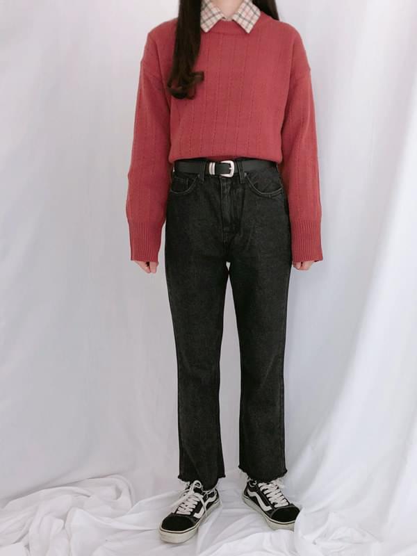 286 semi-bootcut denim pants