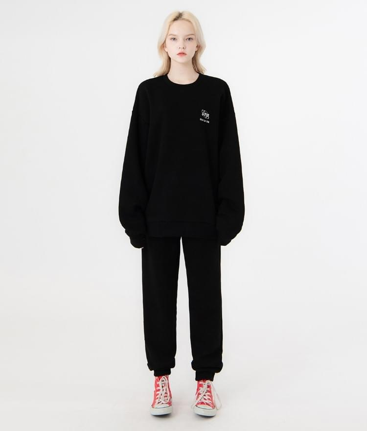 UT8 Street Sweat Shirt UT8 Street Long Pants (Black)SET