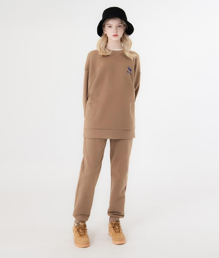UT8 Street Sweat Shirt UT8 Street Long Pants (Dark Beige)SET