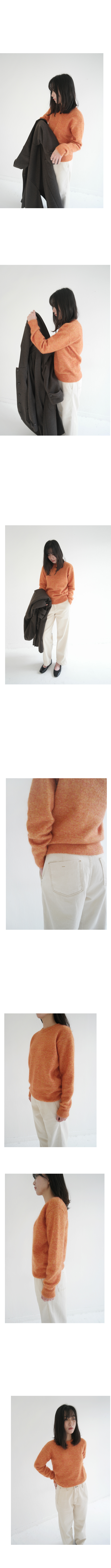 mohair soft round knit