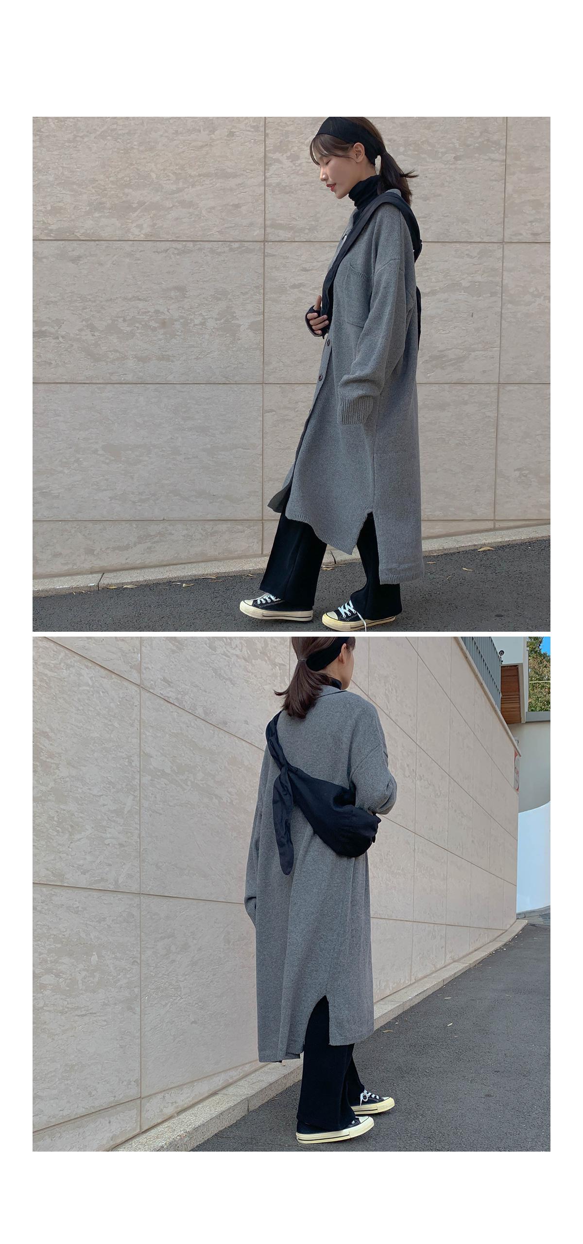 Kara button knit dress