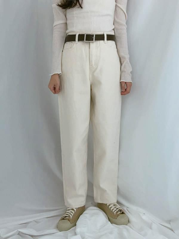 129 wide straight pants