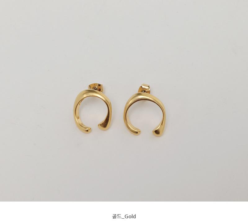Wheel gold earring_C