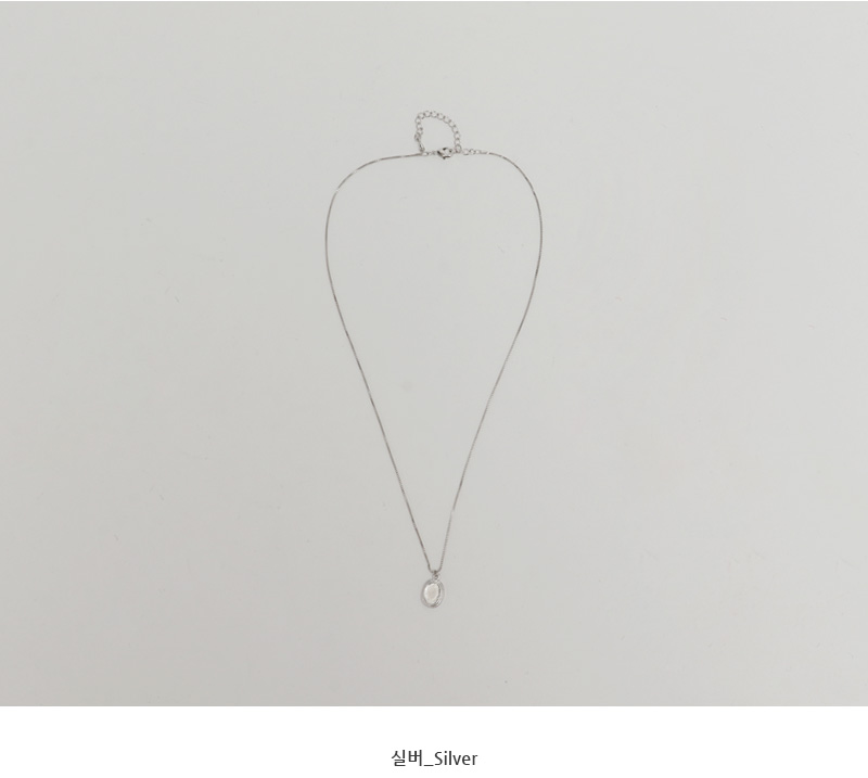 Fray pendant necklace_C