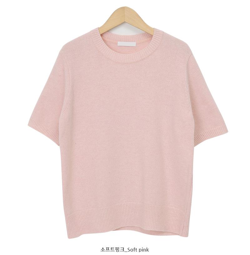 Cranty short cashmere knit_A (size : free)