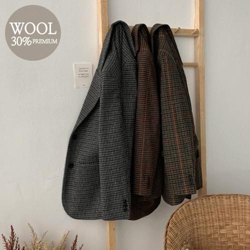 Gallang Wool Check Jacket